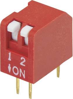 Interrupteur DIP TRU COMPONENTS DPR-02 Nombre total de pôles 2 type piano 1 pc(s)