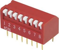 Interrupteur DIP TRU COMPONENTS 705423 Nombre total de pôles 8 type piano 1 pc(s)