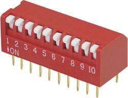 Interrupteur DIP TRU COMPONENTS 705436 Nombre total de pôles 10 type piano 1 pc(s)