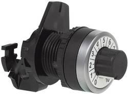 Bouton porte-potentiomètre collerette plastique, chromé BACO 223989 noir, chrome 1 pc(s)