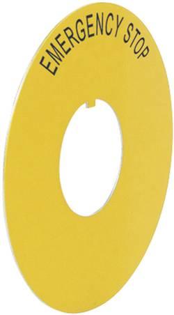 Plaquette de repérage BACO 224176 (Ø) 60 mm EMERGENCY STOP jaune 1 pc(s)
