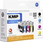 KMP Encre remplace Brother LC-1240 compatible pack bundle noir, cyan, magenta, jaune B37V 1524,0050