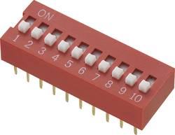 Interrupteur DIP TRU COMPONENTS 709514 Nombre total de pôles 10 standard 1 pc(s)