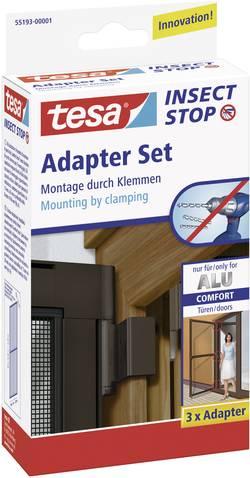 Set adaptateur pour moustiquaire pour l'intérieur/extérieur tesa Adapter Alu Comfort 55193-01 3 pc(s)