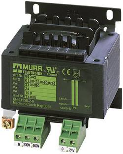 Transformateur de sécurité Murr Elektronik 86329 1 x 230 V, 400 V 1 x 24 V/AC 630 VA 1 pc(s)