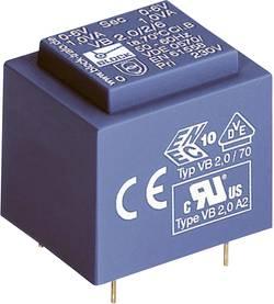 Transformateur pour circuits imprimés Block VB 0,35/2/6 1 x 230 V 2 x 6 V/AC 0.35 VA 58 mA 1 pc(s)