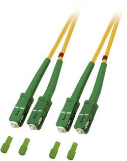 Câble de raccordement fibre optique EFB Elektronik O2561.15 [1x SC/APC 8° mâle - 1x SC/APC 8° mâle] 9/125 µ Singlemode O