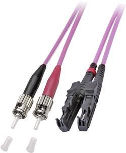 Câble de raccordement fibre optique EFB Elektronik O0343.7,5 [1x E2000® mâle - 1x ST mâle] 50/125 µ Multimode OM4 7.50 m
