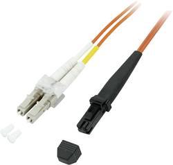 Câble de raccordement fibre optique EFB Elektronik O0730.0,5 [1x MTRJ mâle - 1x LC mâle] 50/125 µ Multimode OM2 0.50 m