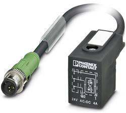 Connecteur confectionné 3 m Phoenix Contact SAC-3P-MS/ 3,0-PUR/BI-1L-Z SCO 1435166 M12 mâle droit - Connecteur d'électro