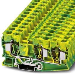 Bloc de jonction pour conducteur de protection Phoenix Contact ST 16-TWIN-PE 3035344 vert-jaune 25 pc(s)