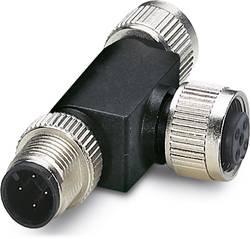 Répartiteur en T pour système bus Phoenix Contact SAC-4P-M12T/2XM12 CCL 1559783 Conditionnement: 5 pc(s)