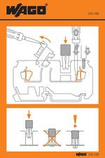 Autocollant avec illustration de la manipulation WAGO 210-283 100 pc(s)