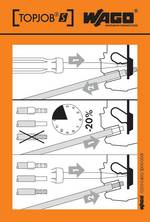 Autocollant avec illustration de la manipulation WAGO 210-400/2000-001 100 pc(s)