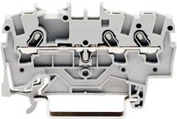 Bloc de jonction traversant WAGO 2001-1301 4.20 mm ressort de traction Affectation des prises: L gris 1 pc(s)