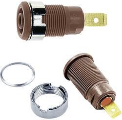Douille de sécurité embase femelle Ø 4 mm Stäubli SLB4-F6,3 23.3060-27 marron 1 pièce