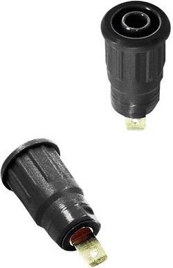 Douille de sécurité embase femelle Ø 4 mm Stäubli SEB4-F 23.3120-21 noir 1 pc(s)