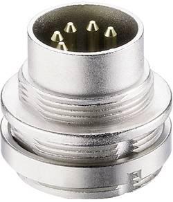Connecteur circulaire DIN embase mâle verticale Lumberg 0314 04 Nombre total de pôles: 4 argent 1 pc(s)