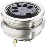 Connecteur circulaire DIN embase femelle, verticale Lumberg 0304 06 Nombre total de pôles: 6 argent 1 pc(s)