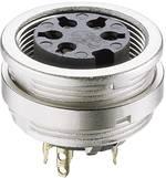 Connecteur circulaire DIN embase femelle, verticale Lumberg KFV 30 Nombre total de pôles: 3 argent 1 pc(s)