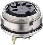 Connecteur circulaire DIN embase femelle, verticale Lumberg 0305 07-1 Nombre total de pôles: 7 argent 1 pc(s)
