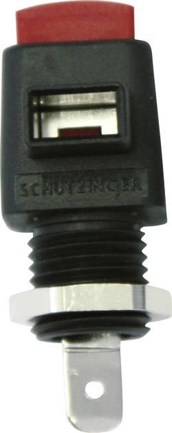 Borne encastrable à connexion rapide Schützinger ESD 798 / RT rouge 16 A 1 pc(s)