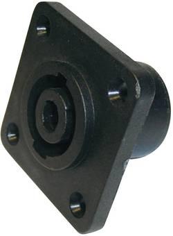 Fiche haut-parleur embase femelle, contacts droits Cliff FM1275 Nombre total de pôles: 4 noir 1 pc(s)