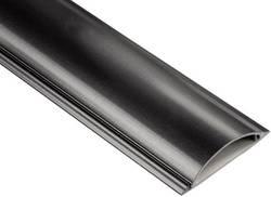 Protège-câbles PVC demi-rond Convient pour: jusqu'à 8 câbles pour un Ø total de 17 mm maxi.