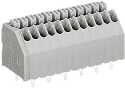 Bornier à ressort WAGO 250-407 0.50 mm² Nombre total de pôles 7 gris 1 pc(s)