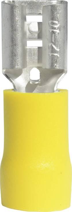 Cosse clip 6.3 mm x 0.8 mm Vogt Verbindungstechnik 3907S 4 mm² 6 mm² partiellement isolé jaune 1 pc(s)