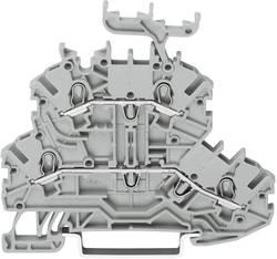 Bloc de jonction traversant à 2 étages WAGO 2000-2231 3.50 mm ressort de traction Affectation des prises: L, L gris 1 pc