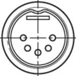 Connecteur circulaire DIN mâle, droit NYS322