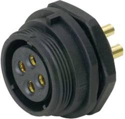 Connecteur pour montage en facade embase femelle 5C pôles 15 A 500 V/AC IP68 Weipu SP2112 / S 5C