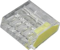 Borne de raccordement TRU COMPONENTS 1564085 Nombre total de pôles: 4 transparent, jaune flexible: - rigide: 0.25-2.5 m