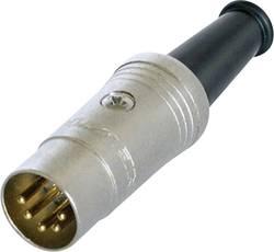 Connecteur circulaire DIN mâle, droit Rean AV NYS322G Nombre total de pôles: 5 noir 1 pc(s)