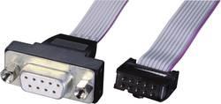 Câbles plats SUB-D de connecteur mâle SUB-D 9 broches vers connecteur femelle 10 broches Conditionnement: 1 pc(s)