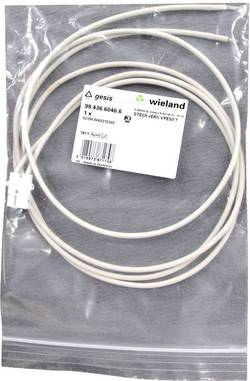 Câble de raccordement Wieland 99.436.6046.6 flexible: 2.5-2.5 mm² Nombre total de pôles: 2 blanc 1.2 m