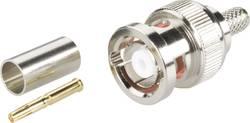 Connecteur BNC à polarité inversée mâle, droit à sertir BKL Electronic 0419602 50 Ω 1 pc(s)