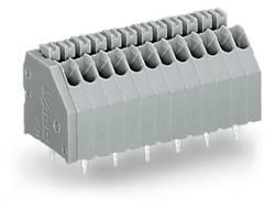 Bornier à ressort WAGO 250-1415 0.50 mm² Nombre total de pôles 15 gris 120 pc(s)