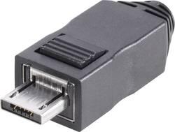 Micro A USB mâle 2.0 TRU COMPONENTS 1582496 mâle, droit Fiche mâle de type A, droite avec boîtier 1 pc(s)