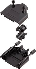 Capot SUB-D 15 pôles MH Connectors 6560-0108-02 matière plastique 180 ° noir 1 pièce