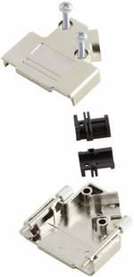 Capot SUB-D 15 pôles MH Connectors 6560-0146-12 plastique, métallisé 45 ° argent 1 pièce