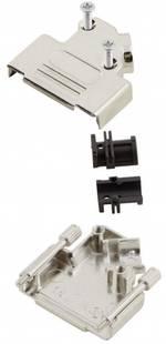 Capot SUB-D 15 pôles MH Connectors 6560-0106-12 métal 45 ° argent 1 pièce