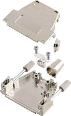 Capot SUB-D 37 pôles MH Connectors 6260-0106-04 plastique, métallisé 180 °, 45 ° argent 1 pc(s)