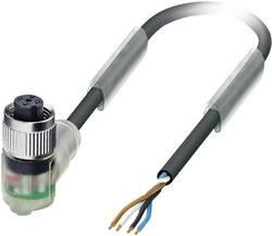 Câble pour capteurs/actionneurs Phoenix Contact SAC-4P- 5,0-PUR/M12FR-3L 1668302 Pôle: 4 avec LED Conditionnement: 1 pc(