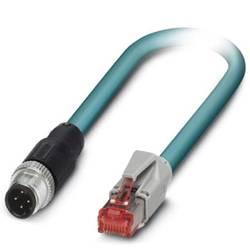 Câble de réseau M12 / RJ45 CAT 5, CAT 5e Phoenix Contact - [1x M12 mâle - 1x RJ45 mâle] - 0.5 m - bleu - 1403497
