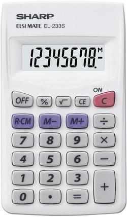 Calculatrice de poche Sharp EL-233 S blanc à pile(s)