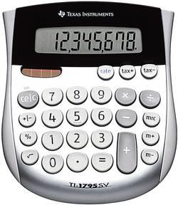 Calculatrice de poche Texas Instruments TI-1795 SV argent solaire, à pile(s)
