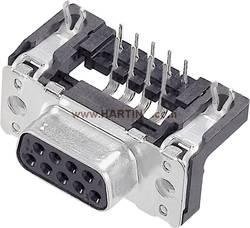 SUB-D femelle 50 pôles Harting 09 66 552 6613 90 ° pour circuits imprimés 50 pc(s)