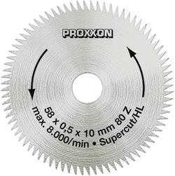 Lame de scie circulaire Ø 58 mm Proxxon Micromot 28 014 Diamètre: 58 mm Nombre de dents (par pouce): 80 Épaisseur:0.5 mm